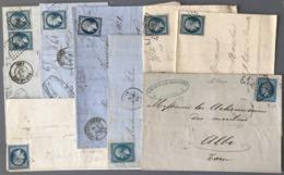 France - N°14 - Lot De 8 Lettres - (W1476) - 1849-1876: Période Classique