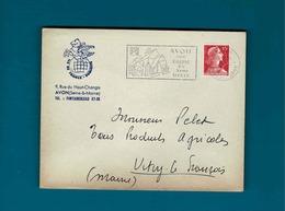 Cachet Avon Seine Et Marne Sur Enve Ile De France Publicité à Avon,flamme Avon - Postmark Collection (Covers)
