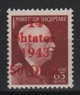 1943 Occupazione Tedesca Albania 65 Q MNH - Occ. Allemande: Albanie
