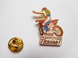 Superbe Pin's En Zamac , Moto , Paris Bercy , Supercross Tracer - Motorfietsen