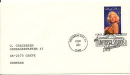 USA FDC 1-6-1995 Marilyn Monroe Universal Studios Hollywood - Premiers Jours (FDC)
