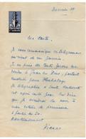 B10    Papier Ecrit A Entete Du Commandant Dominé - Seepost