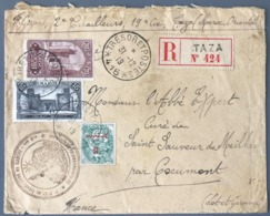 Maroc - Lettre Recommandée De TAZA 1919 - TAD TRESOR ET POSTES 416 - (W1483) - Lettres & Documents