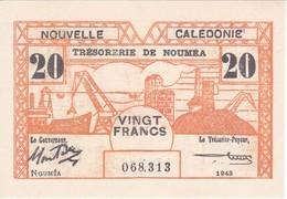 BILLETE DE NOUVELLE CALEDONIE DE 20 FRANCS DEL AÑO 1943 (BANKNOTE)(posible Reproducción) - Nouméa (Nuova Caledonia 1873-1985)