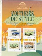 France 2019  - Voitures De Style  -  Lancia Aurelia/Citroen DS/Jaguar/Facel Vega - 4v Sheet Neuf/Mint/MNH - Voitures