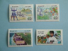 1987 Brésil Bateaux Yv 1842/3 - 1853 - 1864 ** MNH  - Michel 2221/2 - 2231 - 2241 Scott 2109/10 - 2115 - 2124 Ships - Brésil