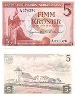 Iceland 5 Kronur 1957 Unc - Island