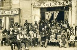 Carte Photp. Café Du Progrés.  Siège Social 63 Ave. D'Agde. Bèziers. 100 Maisons De Vente Dans Une Région. - Beziers