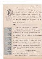 33-T.F  De Dimension  N° 99 X 6 Sur Acte Notarié Timbre Humide 3.6 Francs.Libourne...(Gironde)...1930 - Steuermarken