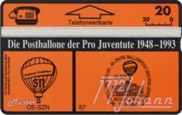 """TWK Österreich Privat: """"Postballone Pro Juventute 57"""" Gebr. - Oesterreich"""