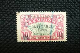 Timbre Poste  Réunion Surchargé Enregistrement Fiscal Quittance - Fiscaux
