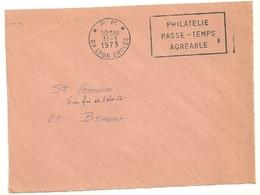 RHONE - Dépt N° 69 = LYON GROLÉE 1973 =  FLAMME PP Codée à DROITE = SECAP 'PHILATELIE / PASSE-TEMPS Agréable ' - Postmark Collection (Covers)