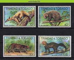 Mwe2720  FAUNA ZOOGDIEREN KAT ANTEATER PORCUPINE CAT OCELOT TAYRA MAMMALS WILDLIFE TRINIDAD & TOBAGO 1978 PF/MNH - Wild
