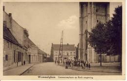 Wommelghem Wommelgem Gemeenteplaats En Kerkomgeving Verstuurd Geweest - Wommelgem