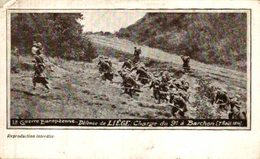 DEFENSE DE LIEGE CHARGE DU PE A BARCHON  ARMEE BELGE BELGIQUE BELGIUM 1914/15 WWI WWICOLLECTION - Lüttich
