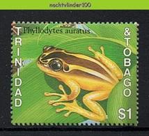 Mwe2726 FAUNA AMFIBIE KIKKERS AMPHIBIAN FROGS FRÖSCHE RANA TRINIDAD & TOBAGO 1989 PF/MNH - Frogs