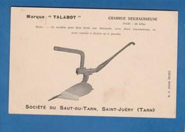 SAINT JUERY MARQUE TALABOT CHARRUE DECHAUSSEUSE SOCIETE DU SAUT DU TARN - Francia