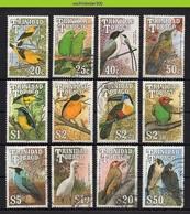 Mwe2727 FAUNA VOGELS PARROT ORIOLE FALCON EGRET TOUCAN BIRDS VÖGEL AVES OISEAUX TRINIDAD & TOBAGO 1990 Gebr/used - Colecciones & Series