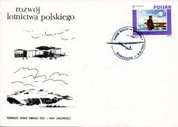 POLOGNE. N°2756 De 1984 Sur Enveloppe 1er Jour. J. Nagorski Qui Atterri Au Pôle En 1914 - Poolvluchten