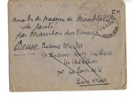 B10   11 06 1940 Lettre+courier En FM  Censure Civile - Marcophilie (Lettres)