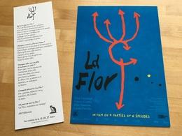LA FLOR, Mariano Llinas :  1 Carte Postale (20x40 Cm) & 1 Marque Pages (20x7 Cm) - Merchandising