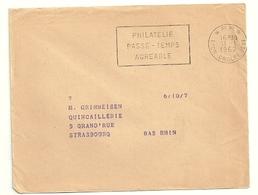 RHONE - Dépt N° 69 = LYON GROLÉE (2e ARR) 1962 =  FLAMME PP Non Codée = SECAP 'PHILATELIE / PASSE-TEMPS Agréable ' - Postmark Collection (Covers)