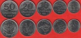 Brazil Set Of 5 Coins: 1 - 50 Cruzeiros 1984-1985 UNC - Brasil