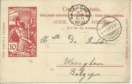 1900 Carte Postale Von Göschenen Nach Waereghem (Waregem) Belgien - Entiers Postaux