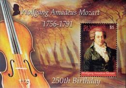 St.Vincent Grenadines 1991  W.A.Mozart  Michel 1Bl.183 MNH 27658 - Musique