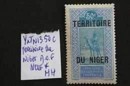 1921 NIGER A.O.F Y&T NO 13 50 C OUTREMER ET BLEU TARGUI, SURCHARGE NEUF * TB .. - Nuevos