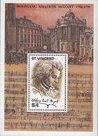 St.Vincent  1991  W.A.Mozart  Michel Bl.183 MNH 27659 - Musique