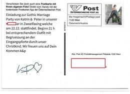1704g: 2322 Zwölfaxing, Partyeinladung Gothic Marriage Via PostApp, Privatganzsache - Bruck An Der Leitha