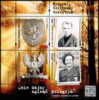 Poland 2020 Fi BLOK 345 Mi BLOCK 296 Ornamental Pectoral Plate Of Cursed Soldiers - 1944-.... República