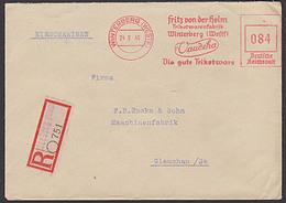 WINTERBERG (WESTF)  R.-Bf AFS Aptiert 1946  Fritz Von Der Helm Trikotagenfabrik Vandeha  =084 DRP= - Zone Anglo-Américaine