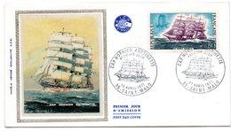 Lettre Premier Jour / Voilier Cap Hornier Antoinette  / Saint Malo   / 10-4-1971 - FDC