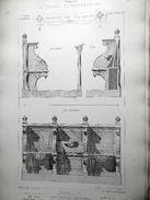 LE RECUEIL D'ARCHITECTURE 1877 -  # 40- STALLES , EGLISE DE BULLY (RHONE) Mr JOURNOUD Architecte - Arquitectura