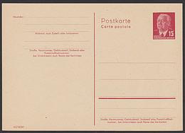 DDR P64II  15 Pf Ganzsache Wilhelm Pieck Ungebraucht - Postales - Nuevos