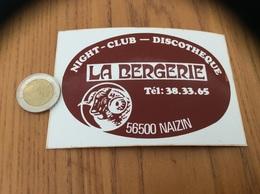 AUTOCOLLANT, Sticker «NIGHT CLUB DISCOTHÈQUE LA BERGERIE - NAIZIN (56)» (bélier) - Adesivi