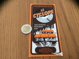 AUTOCOLLANT, Sticker «CLUB & RESTAURATION DE NUIT - DISCOTHÈQUE RÔTISSERIE BAR - ANNECY-LE-VIEUX (74)» - Stickers