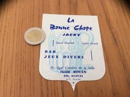 AUTOCOLLANT, Sticker «La Bonne Chope - JACKY - BAR JEUX - ROUEN (76)» (bière) - Stickers