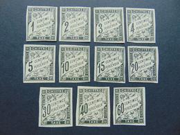 Magnifique Série Des Numéros 1(*) à 11(*) Des Taxe Au Type Duval De L'émmission Des Colonies Générales - Segnatasse