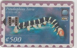 COSTA  RICA -  Pseudosphinx Tetrio (1st Edition), Tirage 150,000, 11/98, Used - Costa Rica