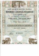75-IMPRIMERIE E. DESFOSSES-NEOGRAVURE. Capital 228 750 MF.  2 Tampons - Acciones & Títulos