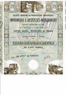 75-IMPRIMERIE E. DESFOSSES-NEOGRAVURE. Capital 610 MF.  2 Tampons - Acciones & Títulos