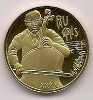 ANDORRA - 50 DINERS DE ORO DE 1993 - DEDICADA AL MUSICO PAU CASALS - KM # 82 EN ESTUCHE ORIGINAL - Andorra