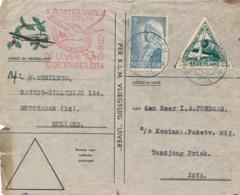 Nederland / Indië - 1934 - Crash Mail UIVER - Cover Van Rotterdam Naar Tandjong Priok - Weinig Schade 28-12 Bezorgd - Luftpost