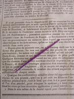 1836 CAEN - MAISON CENTRALE DE BEAULIEU - TROARN - ARGENCES - SAINT AIGNAN CRAMESNIL - Ltn GÉNÉRAL LEMAROIS - Zeitungen