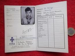 Scout Carte D'éclaireur 1954 - Scouting