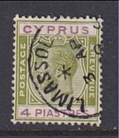 Cyprus: 1924/28   KGV   SG110   4pi      Used - Cyprus (...-1960)