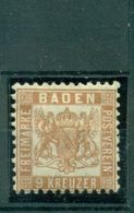 Baden, Wappen I Nr. 20 A Falz * - Baden